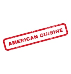 American Cuisine Text Rubber Stamp vector