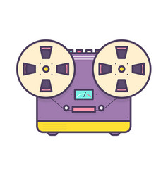 analog music player reel-to-reel audio tape vector image
