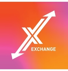 Arrow logo letter X logo design template vector image