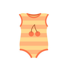 baby clothes romper poster vector image