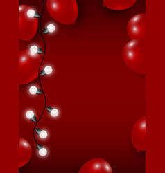 Balloon and light bulb on red background vector
