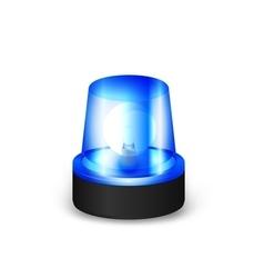 Blue flashing siren vector