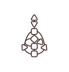 Bodygraph rgb color icon vector