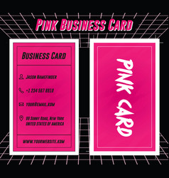 bold and vibrant pink namecard or business card vector image