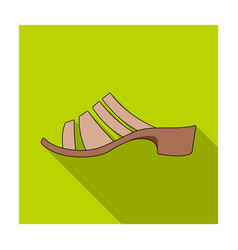 brown leather women summer heels shoes for vector image