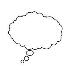 Bubble speak cloud dialog message vector