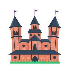 cartoon castle architecture vector image