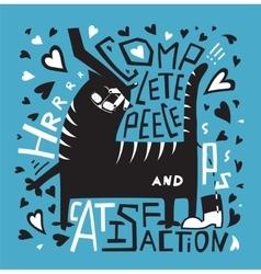 Cat humorous poster print fun design with vector
