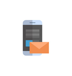 cell smart phone with envelope icon email letter vector image
