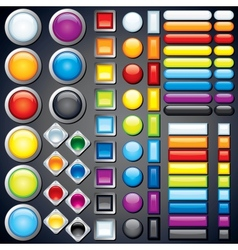 collection web buttons icons bars image vector image