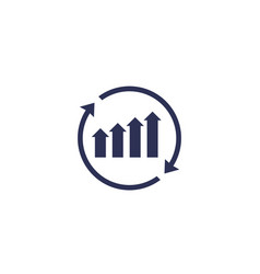 Continuous growth icon vector