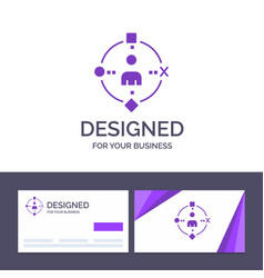 Creative business card and logo template ambient vector