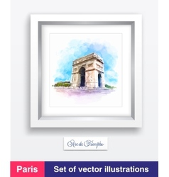 Famous Arc de Triomphe in Paris France vector image