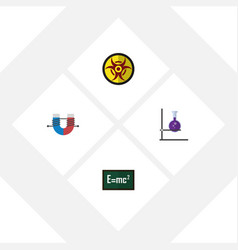 flat icon knowledge set of danger attractive vector image