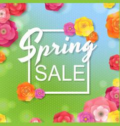 flower sale poster vector image