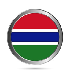 Gambia flag button vector image