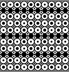 geometric seamless pattern with circles vector image