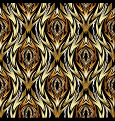 Gold abstract textured seamless pattern vector