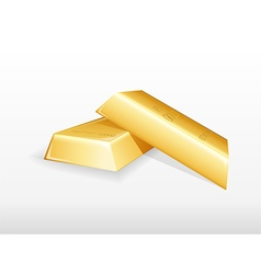 Gold bar background vector image