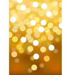 Golden festive lights background vector image vector image