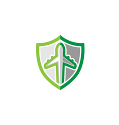 green shield creative symbol logo vector image
