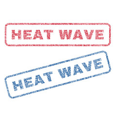 Heat wave textile stamps vector