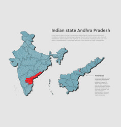 India country map andhra pradesh state infographic vector