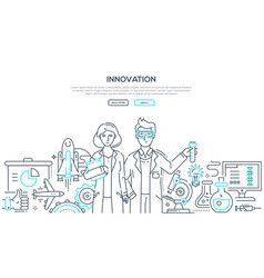innovation - line design style isolated vector image