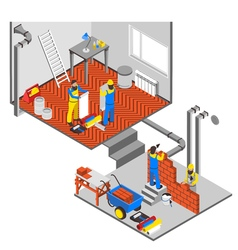 Interior Repairs Composition vector image