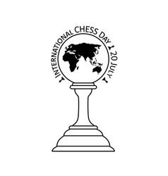 International chess day vector