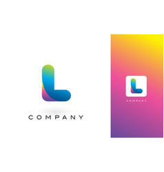 l logo letter with rainbow vibrant beautiful vector image