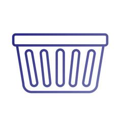 Laundry basket plastic object equipment vector