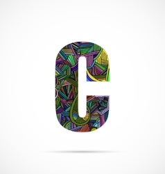 Letter C vector image
