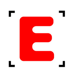 letter e sign design template element red vector image