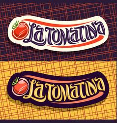 Logos for tomatina festival vector