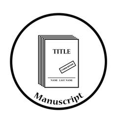 Manuscript under review icon vector image