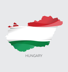 Map of hungary vector