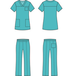 Medical suit vector