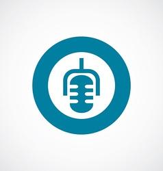 microphone icon bold blue circle border vector image