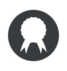 Monochrome round certificate seal icon vector