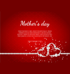 mother s day greeting card with white with pearls vector image
