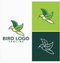 Natural hummingbird logo design stock vector