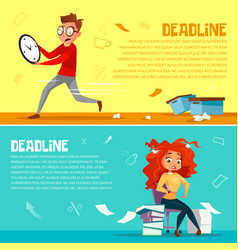 Office managers deadline cartoon vector