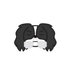 Pekingese emoji frustrated multicolored icon vector
