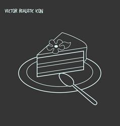 Piece of cake icon line element vector