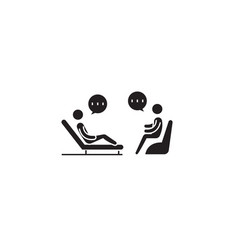 psychologist couch black concept icon vector image