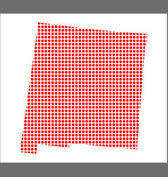 red dot map of new mexico vector image