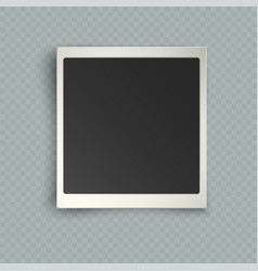 retro realistic vertical blank instant photo vector image