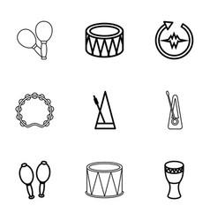 rhythm icons vector image