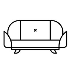 room sofa icon outline style vector image